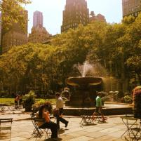 Golden Afternoon in Bryant Park